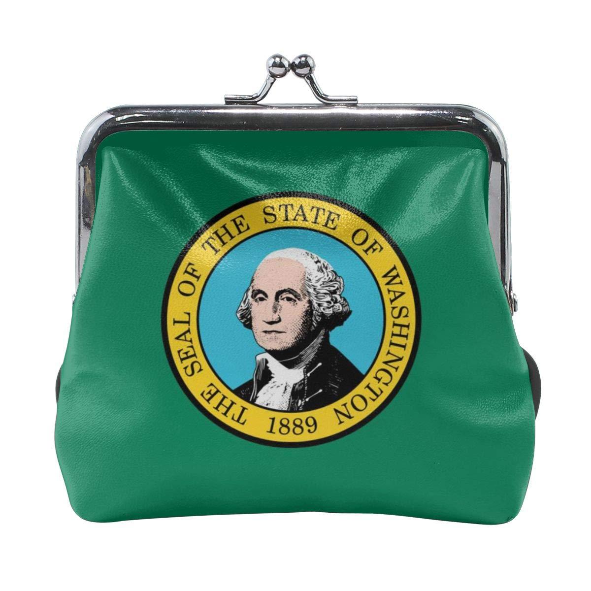 Flag Of Washington Cute Buckle Coin Purses Buckle Buckle Change Purse Wallets