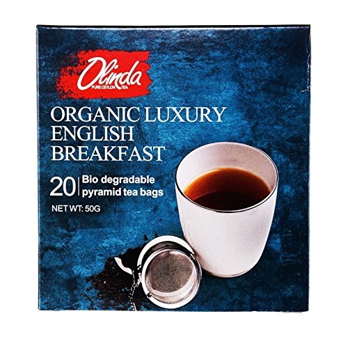 Olinda Organic Luxury English Breakfast Tea 18 Boxes (1 Box Contains 20 Tea Bags) by Olinda