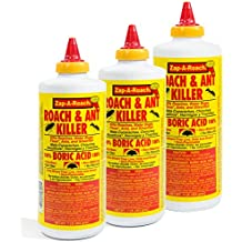 Zap-A-Roach 3 Pack 1lb Roach & Ant Killer Boric Acid Powder Indoor Insect Control