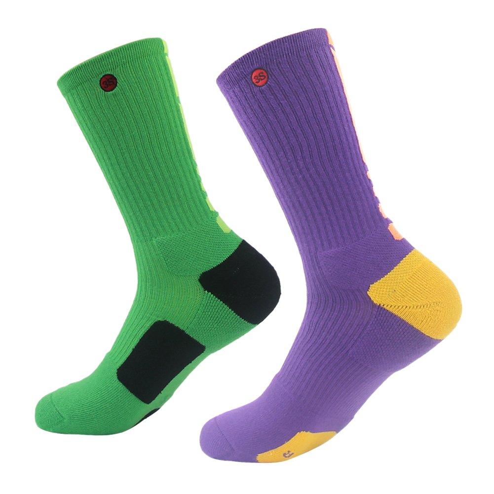 3street SOCKSHOSIERY メンズ B01B5SLXGK XL|09#2-pair green purple 09#2-pair green purple XL