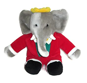 Gund 14 Stuffed Babar The Elephant King Of The Elephants Amazon