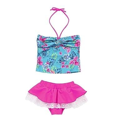 ba5799ca0337 Amazon.com  Goodtrade8 Toddler Baby Girl Ruffle Halter Top+Skirt ...