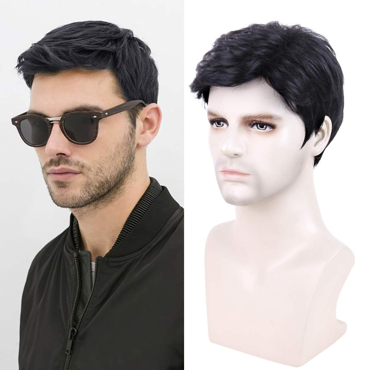 Majik Hair Wig System For Men And Boys Full Head Wig 40 Grams Pack Of 1 (Black, Free Size)