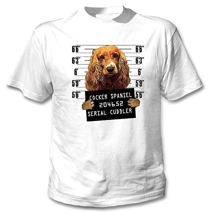 Di Spaniel Mugshot Teesquare1st Uomo 4 Cotone Men's Cocker Tshirt Da TFKcuJ3l1
