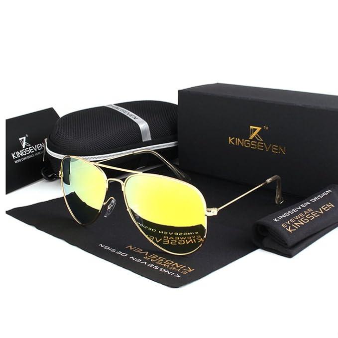 DLuxoMode Gafas De Sol Unisex Polarizadas, Gafas de sol aviador Hombre Mujer, Gafas polarizadas espejo clásicas, Gafas de sol piloto mujer