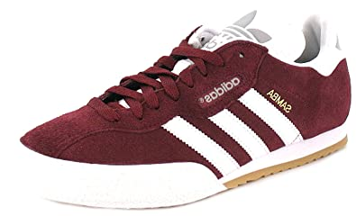 adidas originals samba super maroon mens trainers