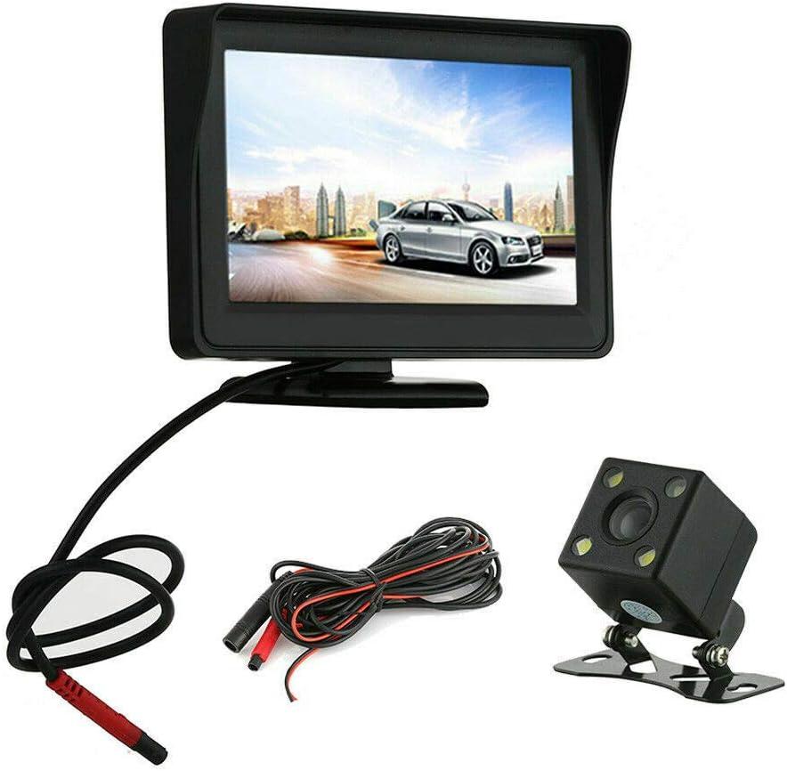 c/ámara externa port/átil HugeAuto4.3 pulgadas 480 RGB*272 Monitor de coche visualizaci/ón de imagen de marcha atr/ás port/átil TFT LCD pantalla de v/ídeo