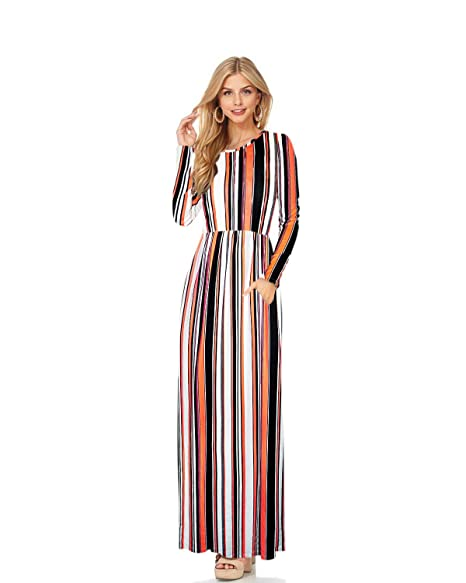 1ac9dc5c8 HyBrid & Company Women Long Sleeve Loose Plain Maternity Casual Long Maxi  Dresses KDR47788 10740 Neonorange
