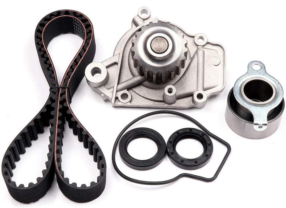 Aintier Automotive Replacement Timing Belt Kits Fits for 1988-1995 Honda Civic 1993-1995 Honda Civic del Sol 1988-1991 Honda CRX