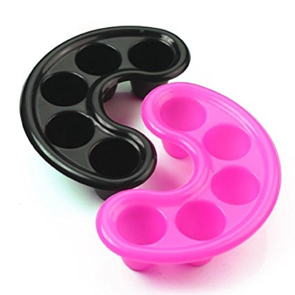 Gemini_mall 2pcs Bowl Soak Off Trays Manicure Treatment Tool for Removing Nail Extensions (Random Colour)