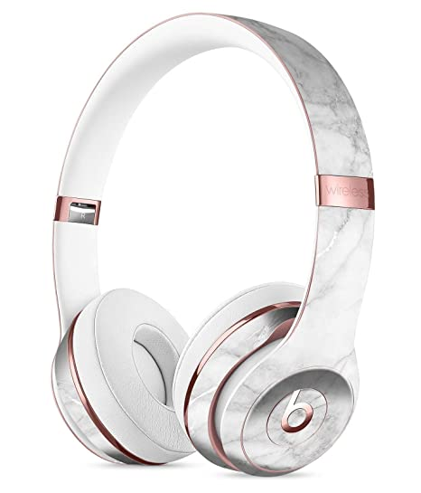 07346af996d Amazon.com: White Scratched Marble DesignSkinz Full-Body Skin Kit for The Beats  by Dre Solo 3 Wireless Headphones/Ultra-Thin/Matte Finished/Protective Skin  ...