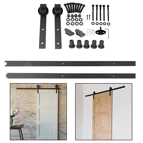 blackpoolal 2 m 6.6 ft Puerta Corredera Sistema accesorios notebook unidad Carril para puertas correderas –