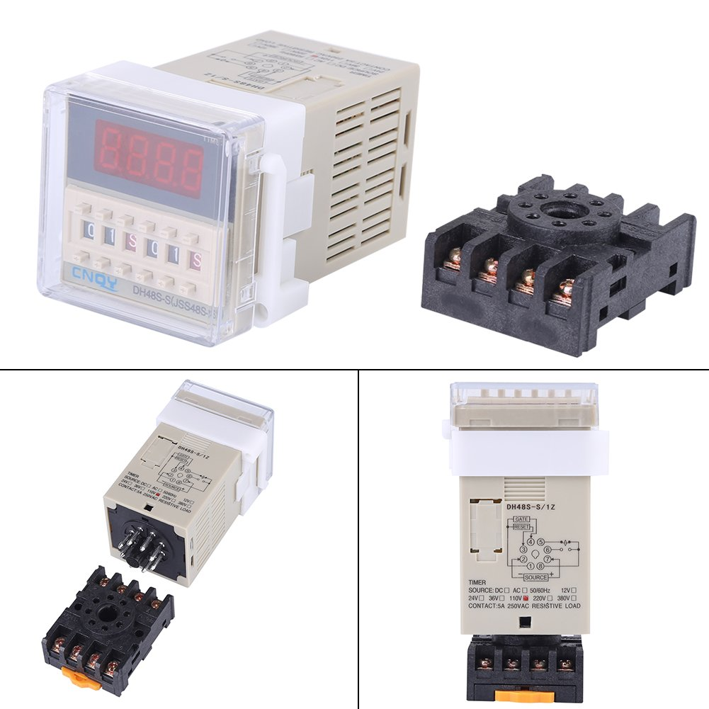 Led Display Automation Digital Delay Timer Control Relay Switch How To Decipher The Wiring Schematic Of A 110220v Module 110v Ac Dh48s S 01s99h Cycle Time With Base