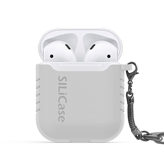 the latest b65e0 c08b3 SILiCase - Silicone Apple Airpods Keychain case (Clear)