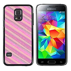 LECELL--Funda protectora / Cubierta / Piel For Samsung Galaxy S5 Mini, SM-G800, NOT S5 REGULAR! -- Pink Purple Horizontal --