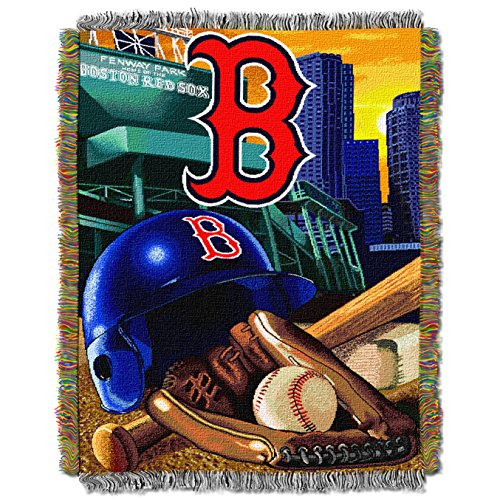 (The Northwest Company MLB Boston Red Sox Home Field Advantage Woven Tapestry Throw, 48