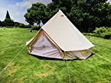 DANCHEL 400 Bell Tent 100% Cotton Canvas with Mat Sheet