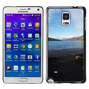 Etui Housse Coque de Protection Cover Rigide pour//M00309571 Kenmore Loch Tay Escocia Agua//Samsung Galaxy Note 4 IV
