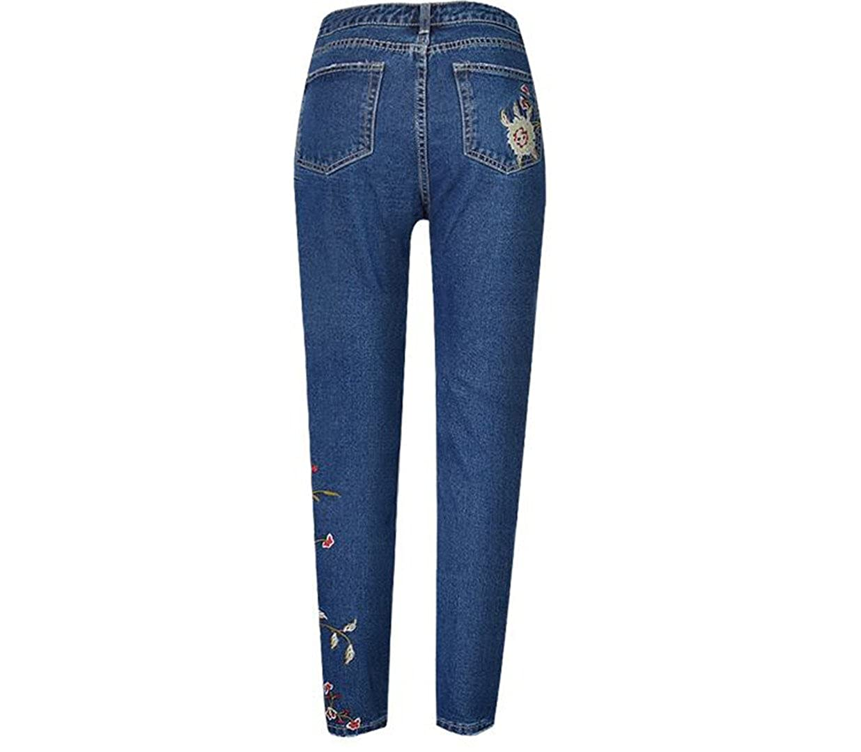 Spring Embroidered Denim Ripped Skinny at Amazon Womens ...