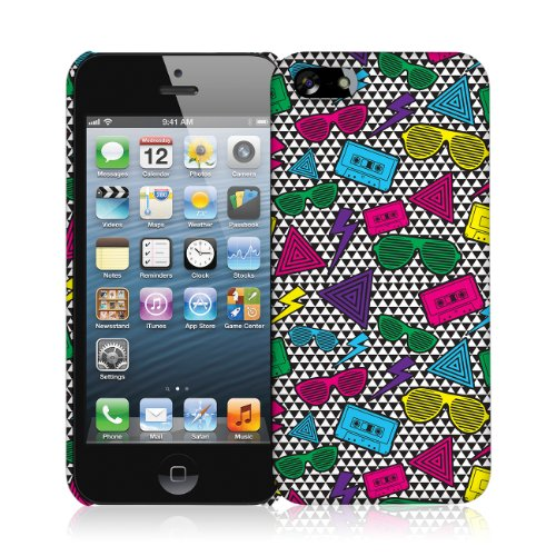 EMPIRE Signature Series One Piece Slim-Fit Case Tasche Hülle for Apple iPhone 5 / 5S - Neon 90's