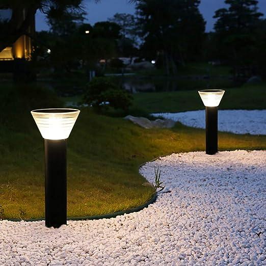KOKOF Lámpara de pie al Aire Libre inducción Solar de luz de ...