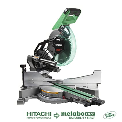 Hitachi C10fshc 10 Sliding Compound Dual Bevel Miter Saw With Laser
