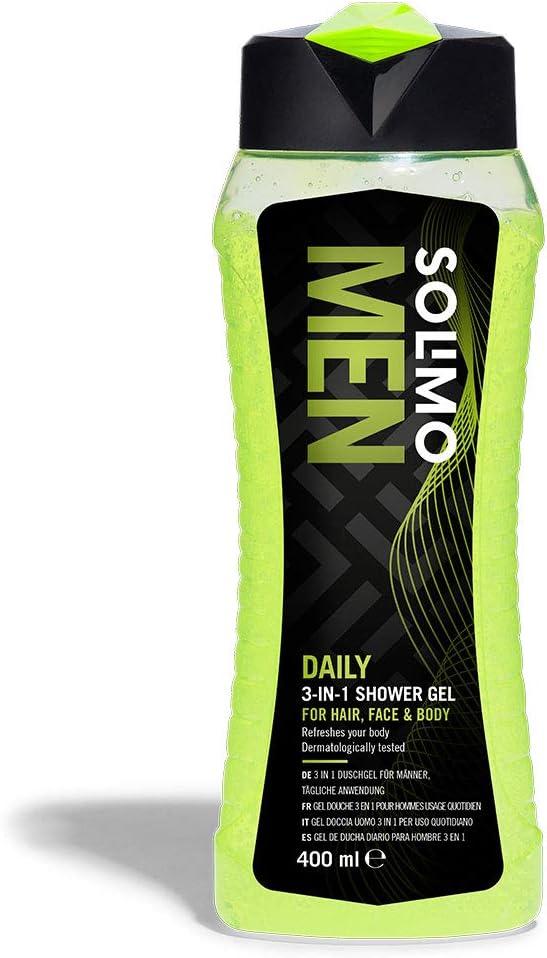 52 opinioni per Marchio Amazon- Solimo Gel doccia uomo 3 in 1 (Corpo, viso, capelli) per uso