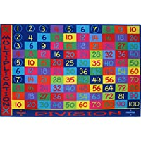 Multiplication Kids Rug - Size 5ft 3in x 7ft 6in