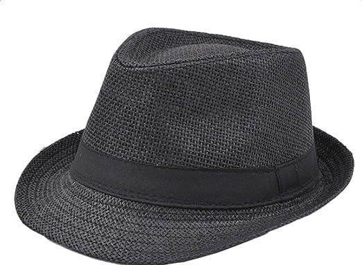 Westeng Straw Hat Men Women Beach Sun Hat Jazz Style Sun Protection ... fc1f51efa42d