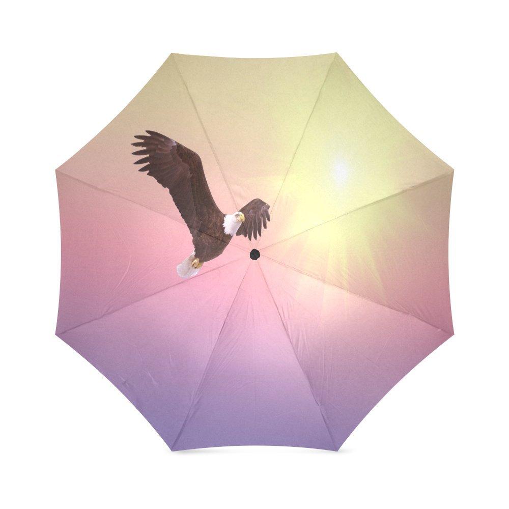 カスタムBald Eagleコンパクト旅行防風防雨折りたたみ式傘 B075W32X1S