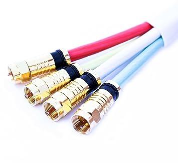 Estilo Best Sat coaxial Cable 15 m g Quattro CK 4 en 1 Digital ...