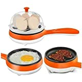 PETRICE Multifunction Electric Egg Cooker Egg Boilers & Steamer (Colour May Vary)