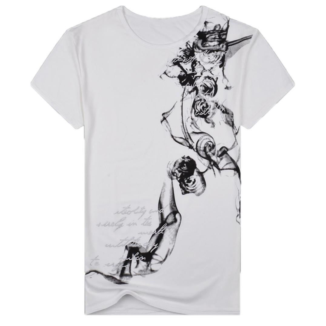 RETUROM -Camisetas Camiseta para Hombre, Casual de Manga Corta Estampada de Verano de los Hombres Ocasionales de Manga Corta Blusa Superior: Amazon.es: Ropa ...