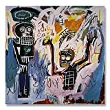 Jean-Michel Basquiat Original Graffiti Art Baptism 1982 Canvas Paintings Hand Painted Reproduction Unframed Tablet - 48X48 inch (122X122 cm) for Living Room Bedroom Dining Room Wall Decor To DIY Frame