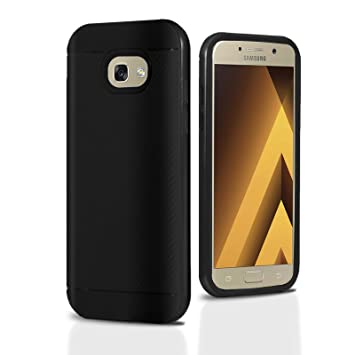 Funda Samsung A5 2017, Lincivius, Fundas Samsung Galaxy A5 2017 Carcasa [Carbon Tweel Bumper] Case Silicona Effecto Carbono Anti Golpes Cover Con ...