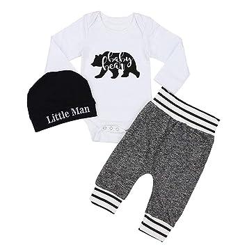 2fc5722ab Cyhulu Newborn Baby Boys Girls Cotton Clothes Set Cartoon Baby Bear ...