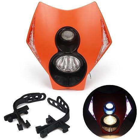 data di rilascio: bellissimo stile la vendita di scarpe Jfgracing universale H3 12 V 35 W alogena faro LED moto doppia testa della  lampada con LED accensione luci per KTM Duke Dirt bike super Motard – ...