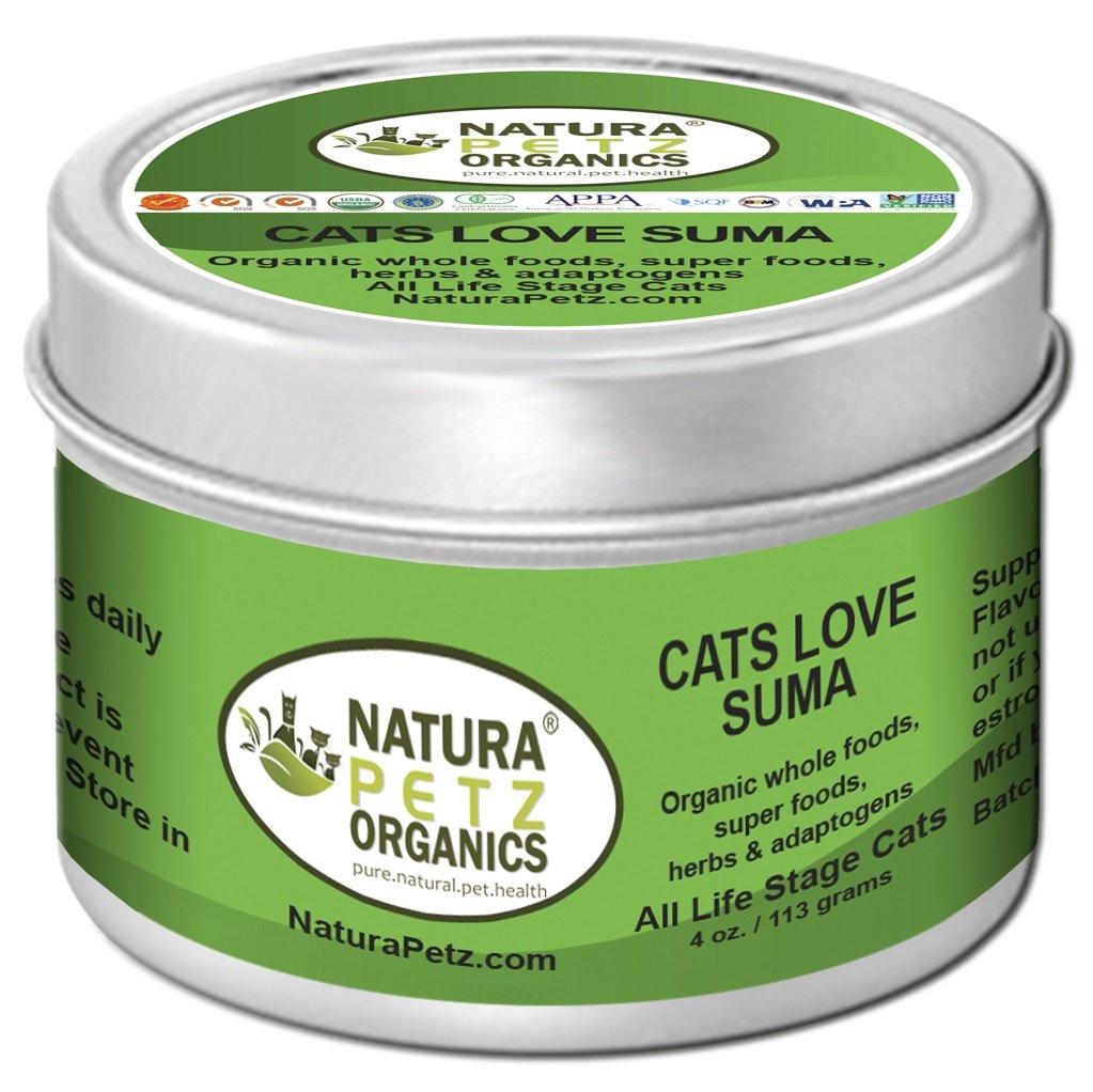 Cats Love Suma to include Glandular Support for Cats by Natura Petz Organics