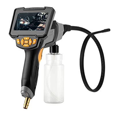 Endoscope Inspection Camera 1080P Dual Lens 4.3 inch Screen IP68 Waterproof Borescope Snake Camera,2600mAh Battery,Cleaning Gun,Storage Bottle: Industrial & Scientific
