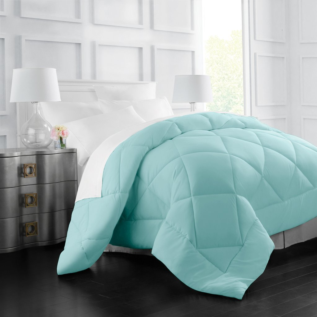 Egyptian Luxury Goose Down Alternative Comforter - All Season - 2100 Series Hotel Collection - Luxury Hypoallergenic Comforter - King/Cal King - Aqua by Italian Luxury