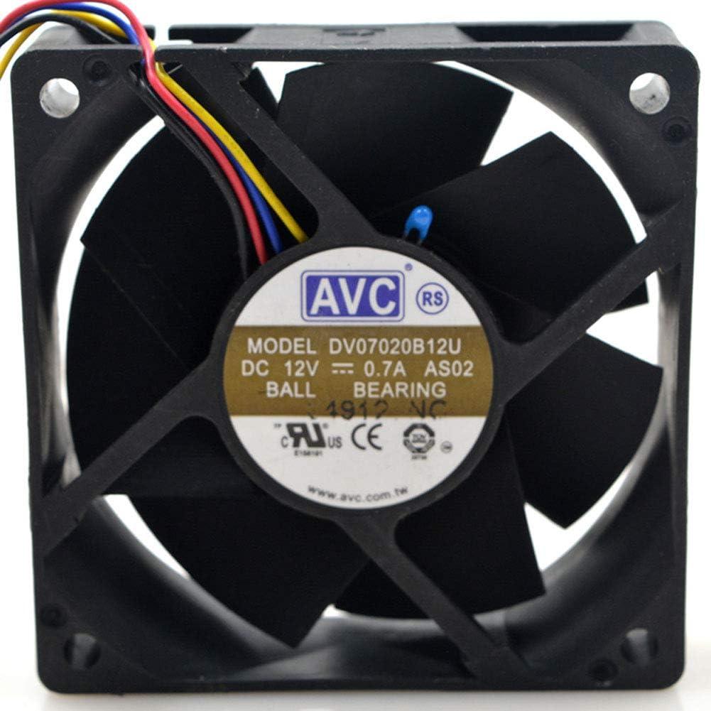 for AVC DV07020B12U 7020 70mm 7cm DC 12V 0.7A Dual Ball Bearing Fan Server Inverter Cooling Fan