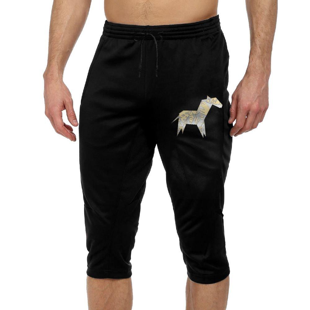BigManPants Origami Zebra Japan Craft Exercise Man Vintage Casual Durable French Terry Knee Pants by BigManPants