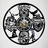 HARRY POTTER movie Design Vinyl Wall Clock – handmade gift for any occasion – unique birthday, wedding, anniversary, Valentine's day gifts – Wall décor Ideas – LEAVE A FEEDBACK AND WIN A CLOCK For Sale