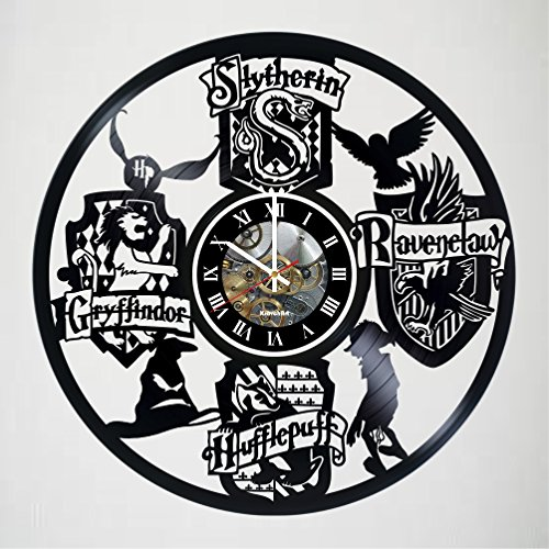 Anniversary Wall Clock - HARRY POTTER movie Design Vinyl Wall Clock – handmade gift for any occasion – unique birthday, wedding, anniversary, Valentine's day gifts - Wall décor Ideas - LEAVE A FEEDBACK AND WIN A CLOCK