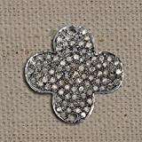 Handmade 92.5 Sterling Silver Pave Diamond New Designer Connector Finding Jewelry