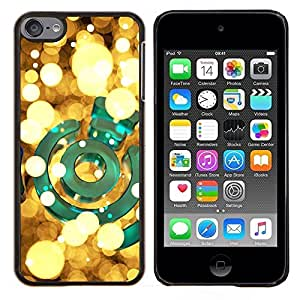 Planetar® ( Lumières jaunes Bright Green or Nuit ) Apple iPod Touch 6 6th Touch6 Fundas Cover Cubre Hard Case Cover