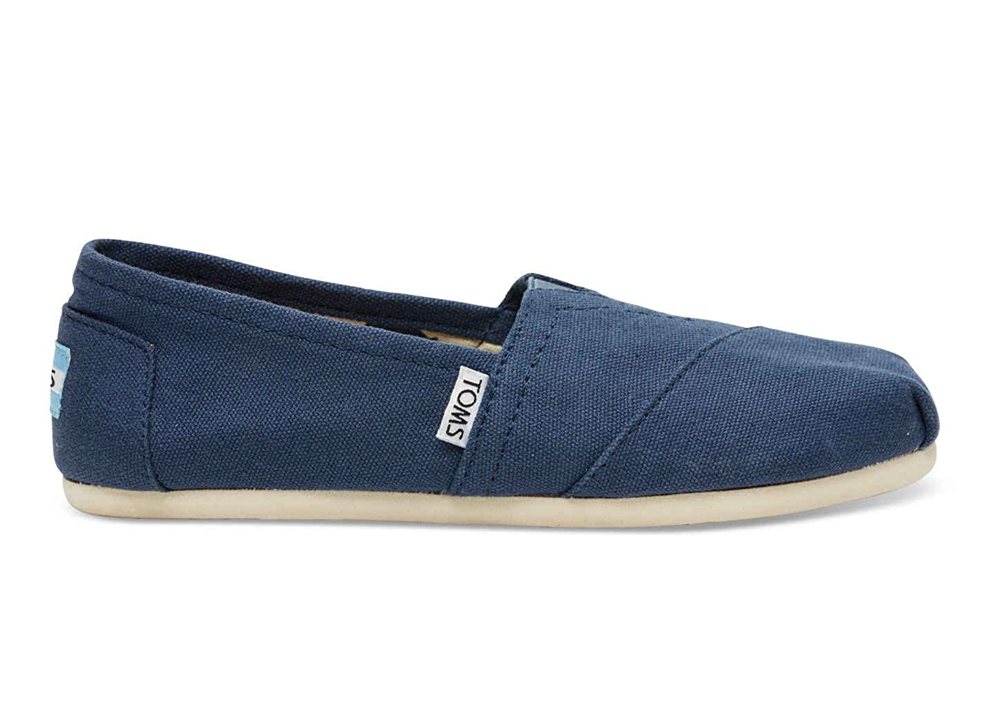 Amazon.com | Toms 001001B07-NVY: Womens Classic Flat Navy Alpargata Slip-On Casual Sneaker (5 B(M) US Women, Navy) | Loafers & Slip-Ons