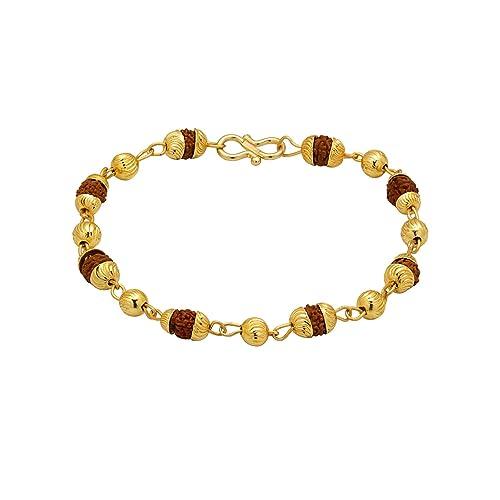 9f19d557ef75f Dare by Voylla Gold-Toned Bracelet Studded with Rudraksha Beads ...