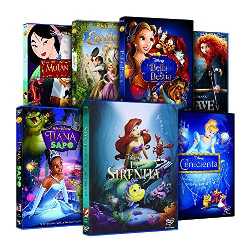 Pack Princesas Disney La Sirenita + Enredados + Mulán + Tiana Y El Sapo + Bella Y Bestia + La Cenicienta + Brave DVD: Amazon.es: Cine y Series TV