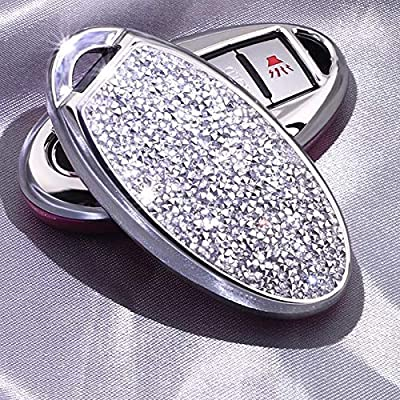 3 4 5 6 Buttons 3D Bling keyless Entry Remote Smart Key Fob case Cover for Nissan Murano Pathfinder Titan Maxima Sylphy Lannia Livina NV200 Tiida Teana Qashqai Sunny (Silver): Car Electronics
